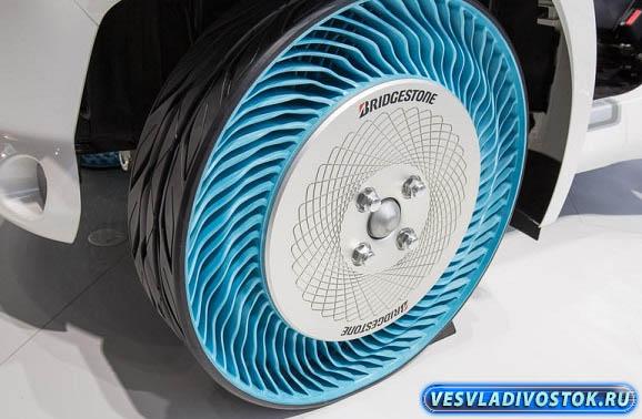 Новая технология производства безвоздушных шин от Bridgestone