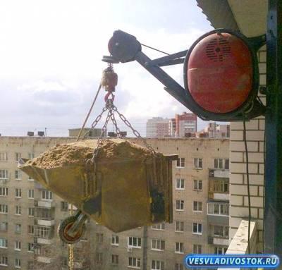 Лебедка для подъема стройматериалов
