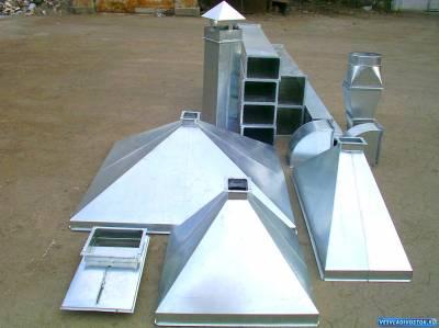 Вентиляционные зонты для защиты от осадков шахт воздуховодов