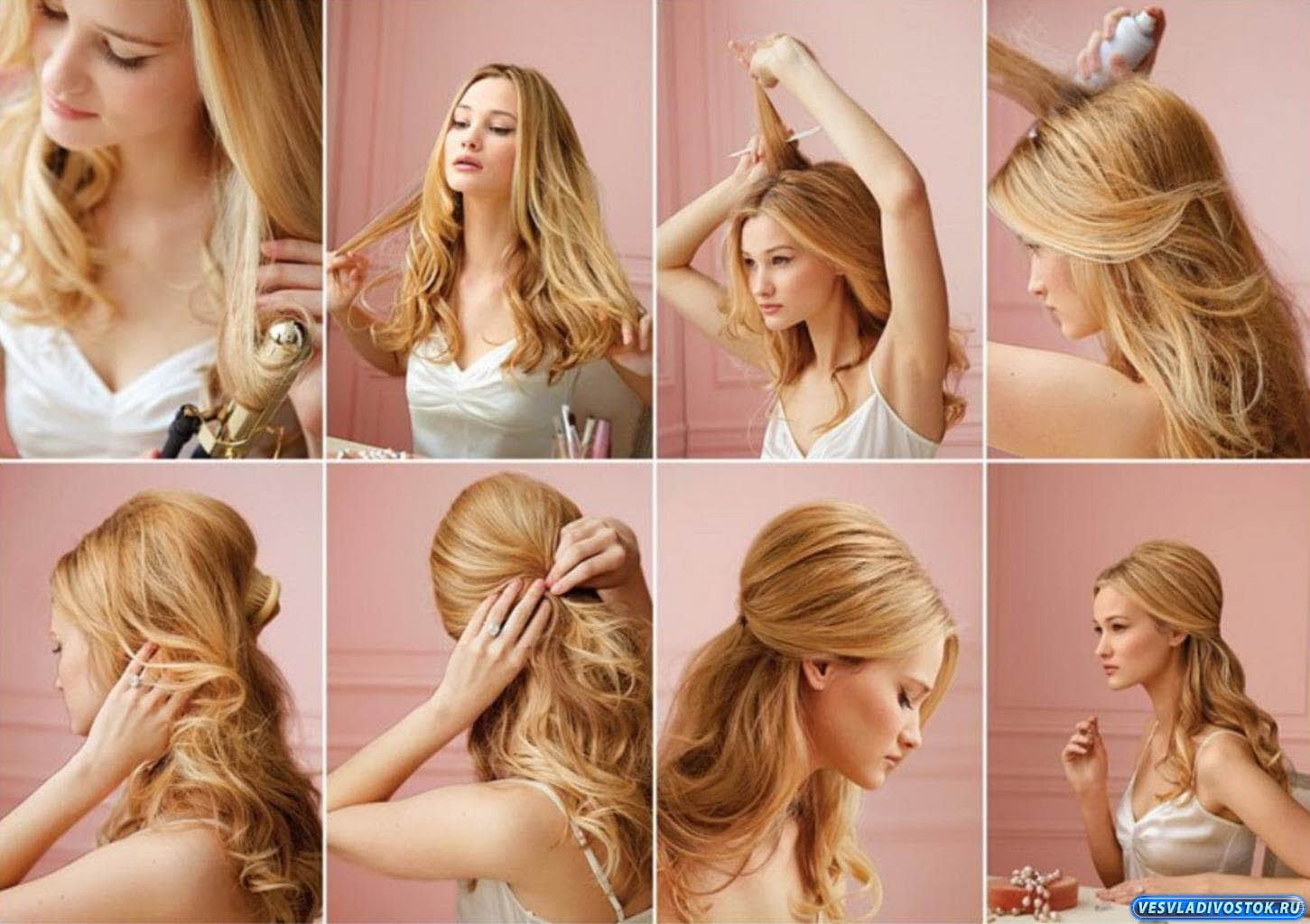 Прическа каждый день для длинных пышных волос