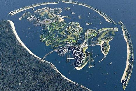 Строительство острова «Федерация» на Черном море