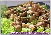 Овощной салат с грибами I