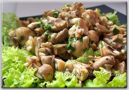 салати з грибами з фото