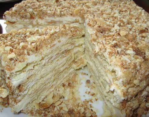 Фото рецепт большого торта наполеона