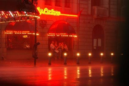 Улица красных фонарей в Цюрихе