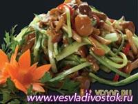Овощной салат с грибами II