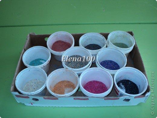 Покрасить опилки своими руками