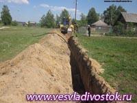 В городе Кстово ведется прокладка нового газопровода высокого давления.